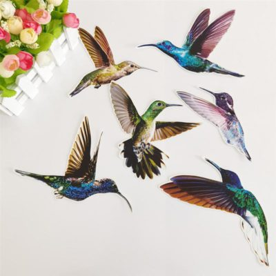 Beautiful Humming Bird Static Cling Window Stickers