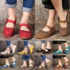 Kafa Women's Leather Floral Sandals
