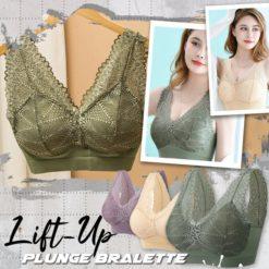 Lace Lift-Up Plunge Bralette