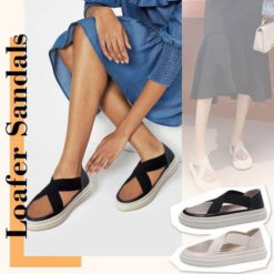Elasticity Casual Gauze Loafer Sandals