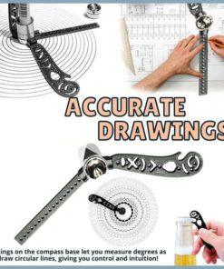 Multifunctional Magnetic Drawing Ruler