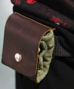 Leather Waxed Canvas Pouch