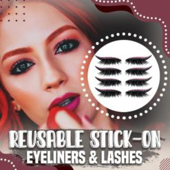 Reusable Stick-On Eyeliners and Lashes