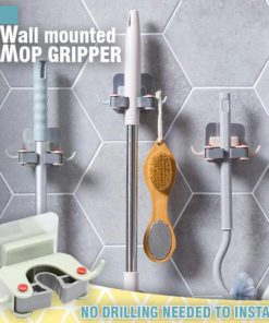 Wall Mounted Mop Gripper