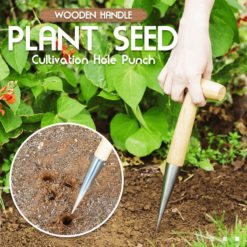 Wooden Handle Plant Seed Cultivation Hole Punch