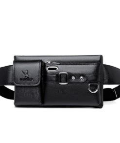 Leather Sling Crossbody Chest Waist Bag